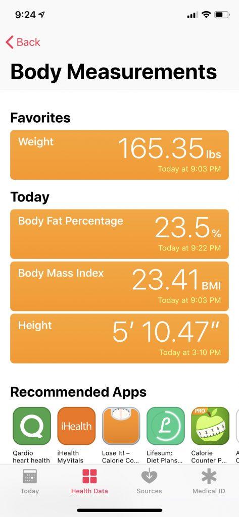 Health-app-body-measurements