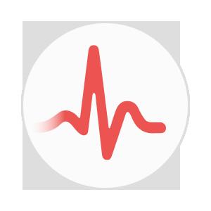ECG Heart Rate Circle Icon
